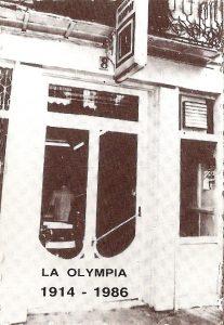 La Olympia detalle  fachada principal 1914-2014 foto realizada en 1986